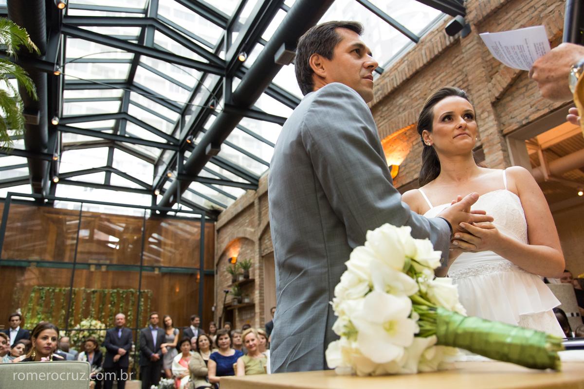 Foto da bela decoração desse casamento no restaurante cantaloup