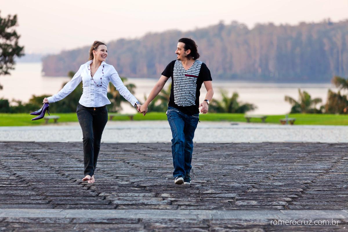 Romero Cruz fotografou o ensaio pre-wedding do casal Natalia e Guilherme