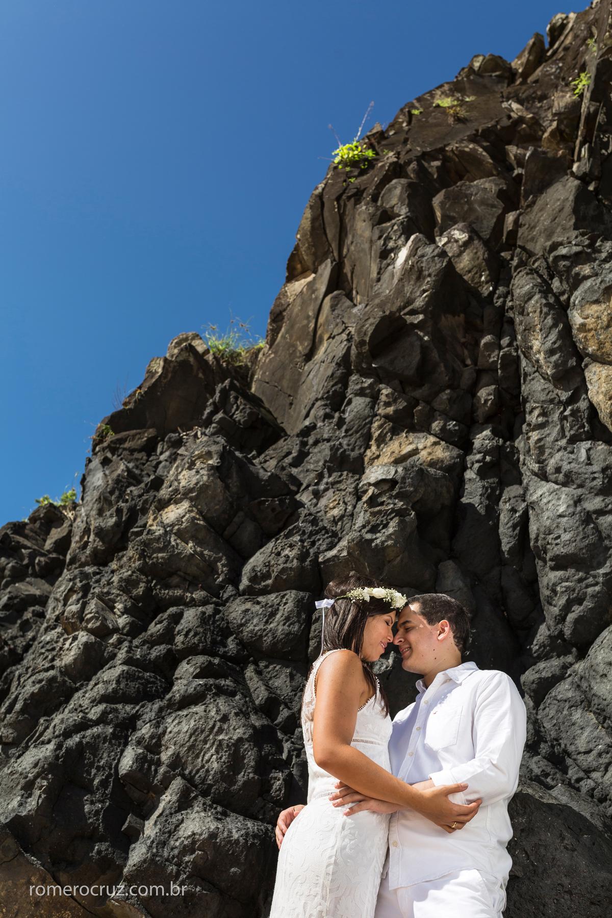 Fotógrafo Romero Cruz fez o ensaio do casal Marianne e Alysson em Fernando de Noronha-PE
