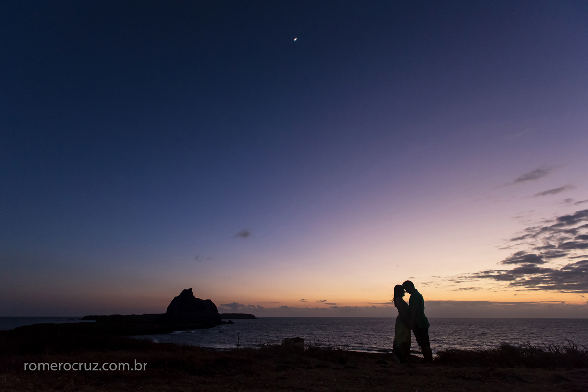 Fernando de Noronha-PE local do ensaio de fotos dos noivos Mariana e Anderson feito por Romero Cruz