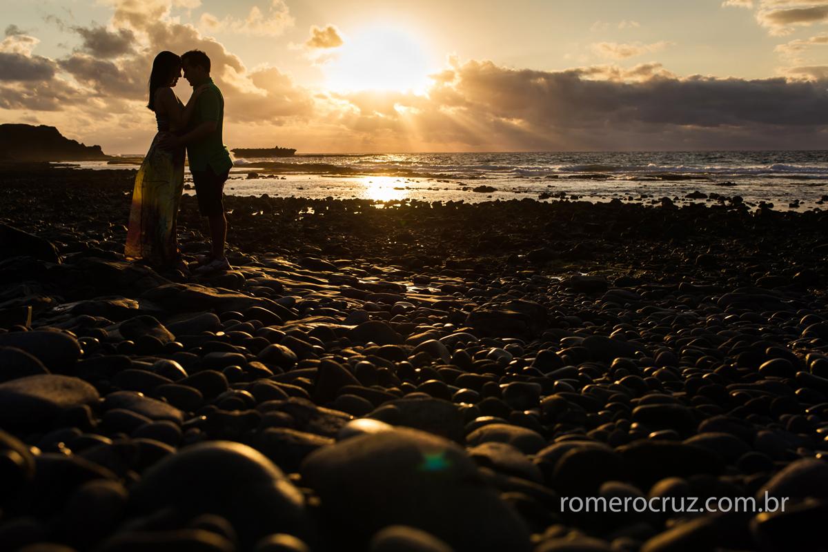 Romero Cruz fotografou o casal Mariana e Anderson em Fernando de Noronha