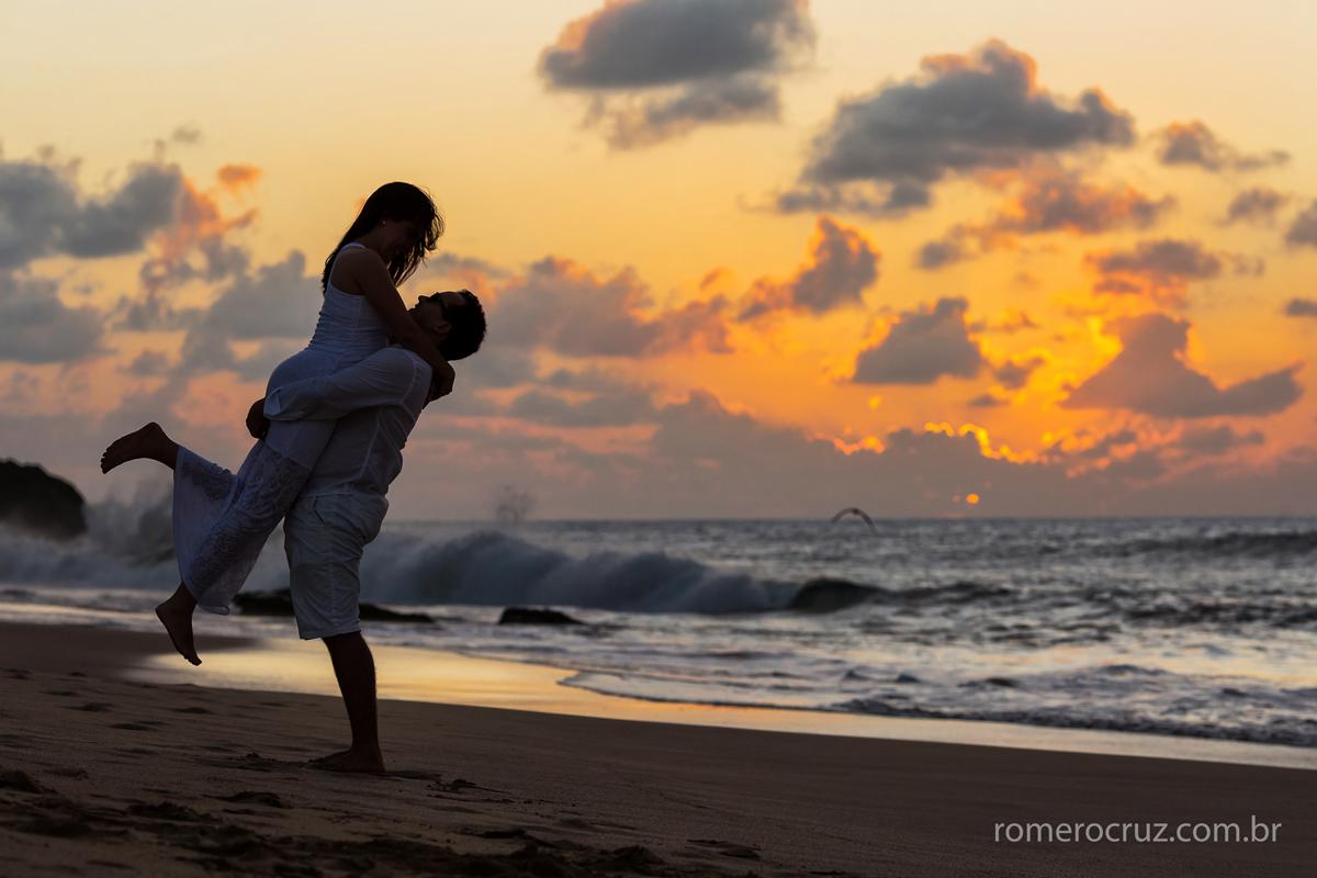 Fotógrafo Romero Cruz fotografou casal nas praias de Fernando de Noronha