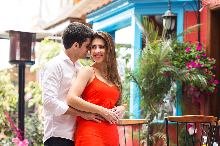 Campos do Jordão foi o local escolhido pelo casal  para seu lindo ensaio pré casamento