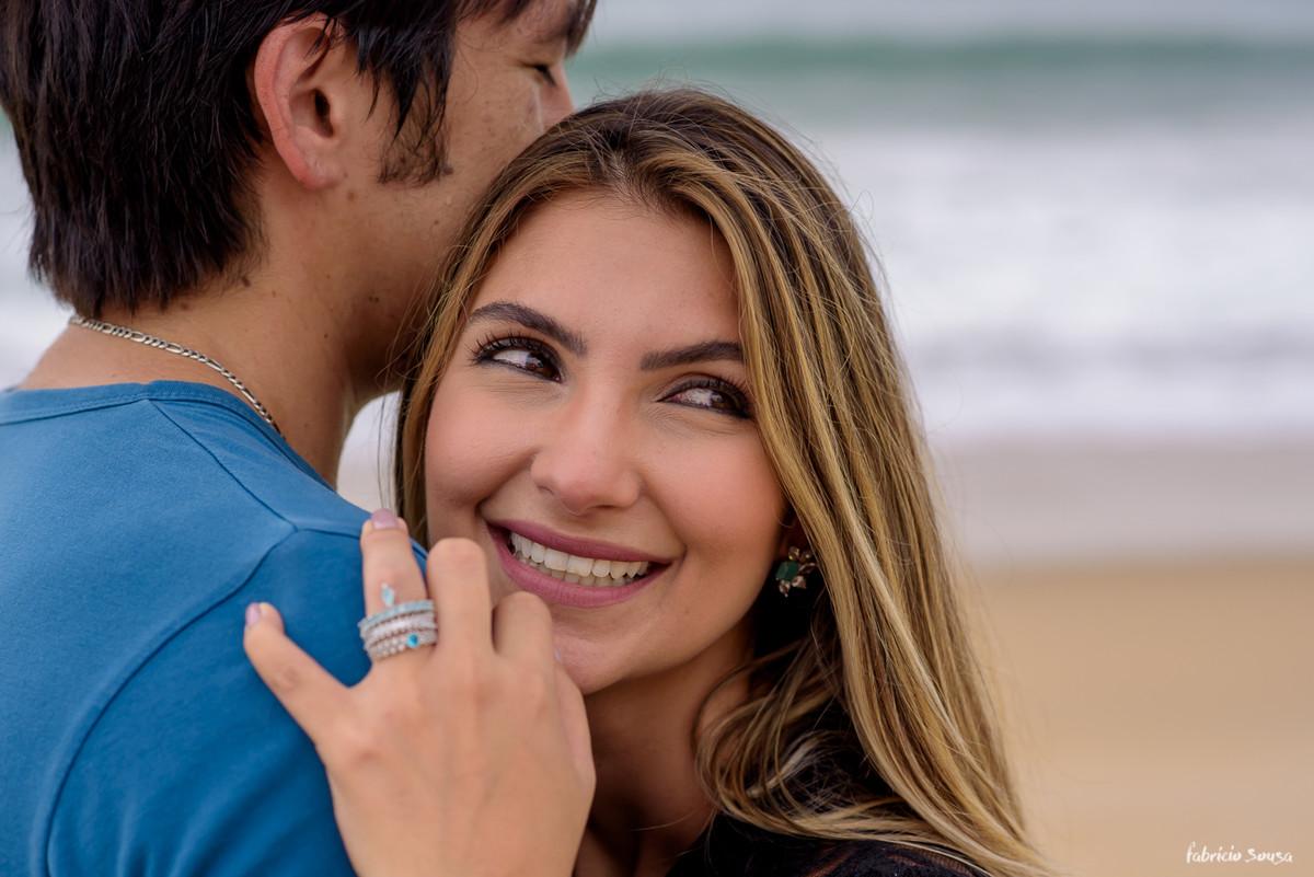 noiva Fernanda sorridente