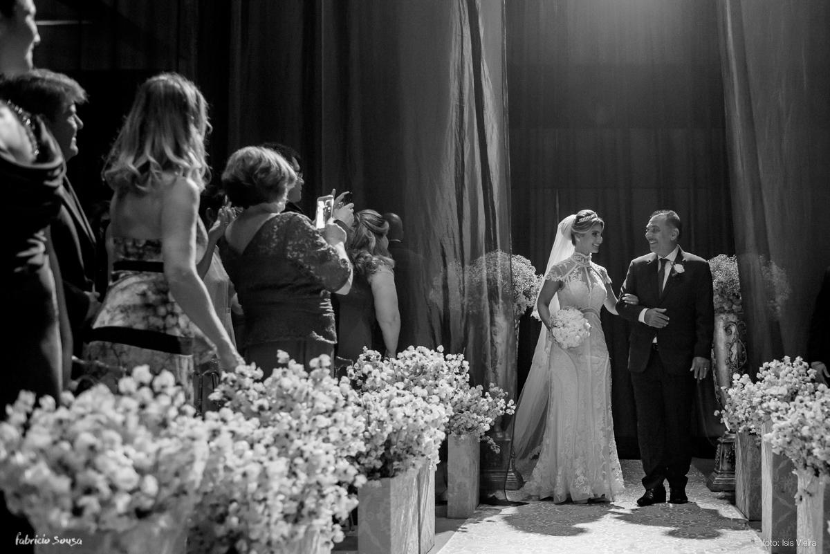entrada da noiva com seu pai na estação das Docas - Decora Belem