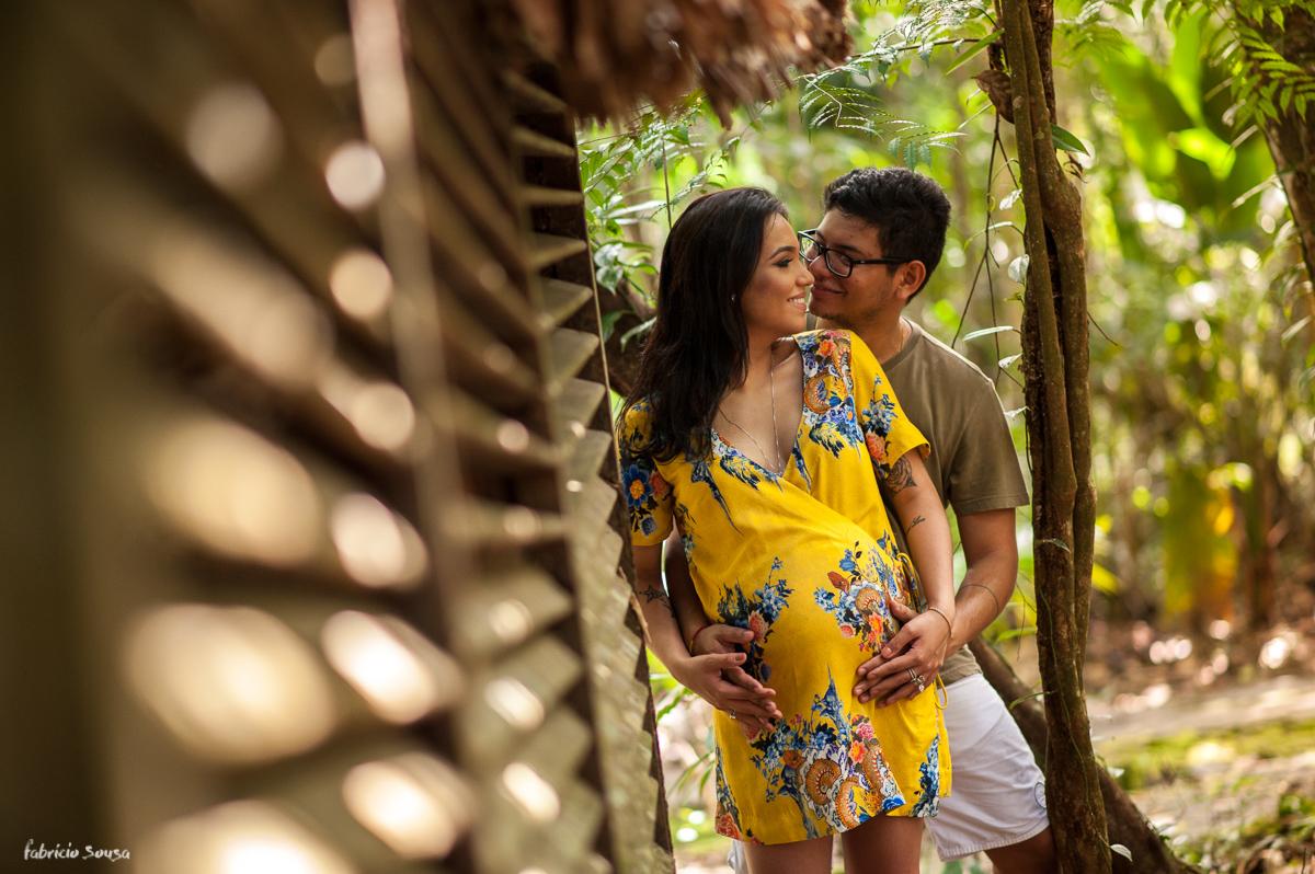 retrato do casal à espera da filha menina Maria Antonia - parque dos igarapés Belém do Pará