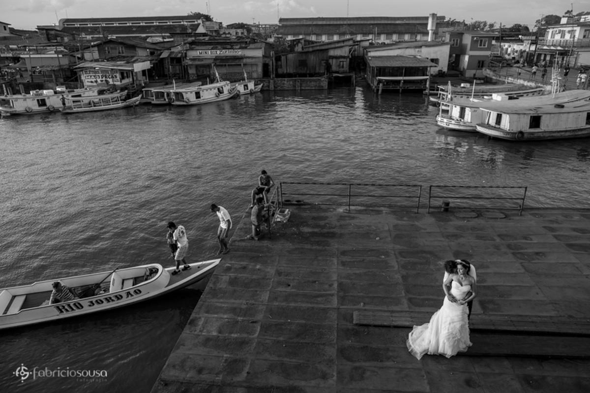 noivos no porto de Santana - Amapá
