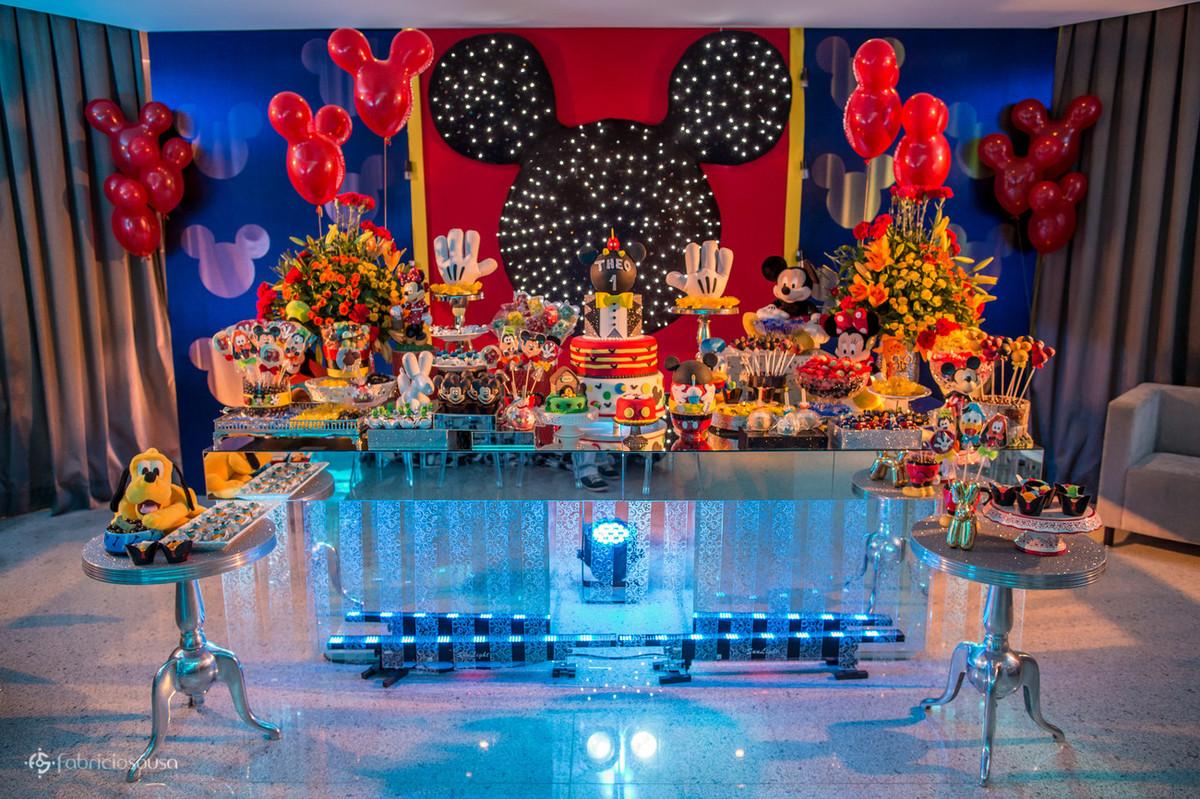 decoração temática do Mickey pela Decora Belem: Nadia Sousa e Bruna Sousa