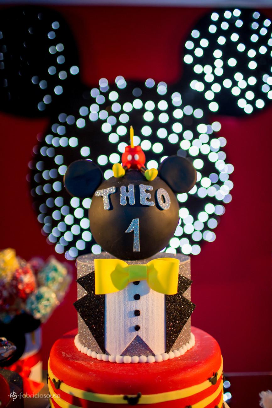 Topo do bolo com o tema do Mickey