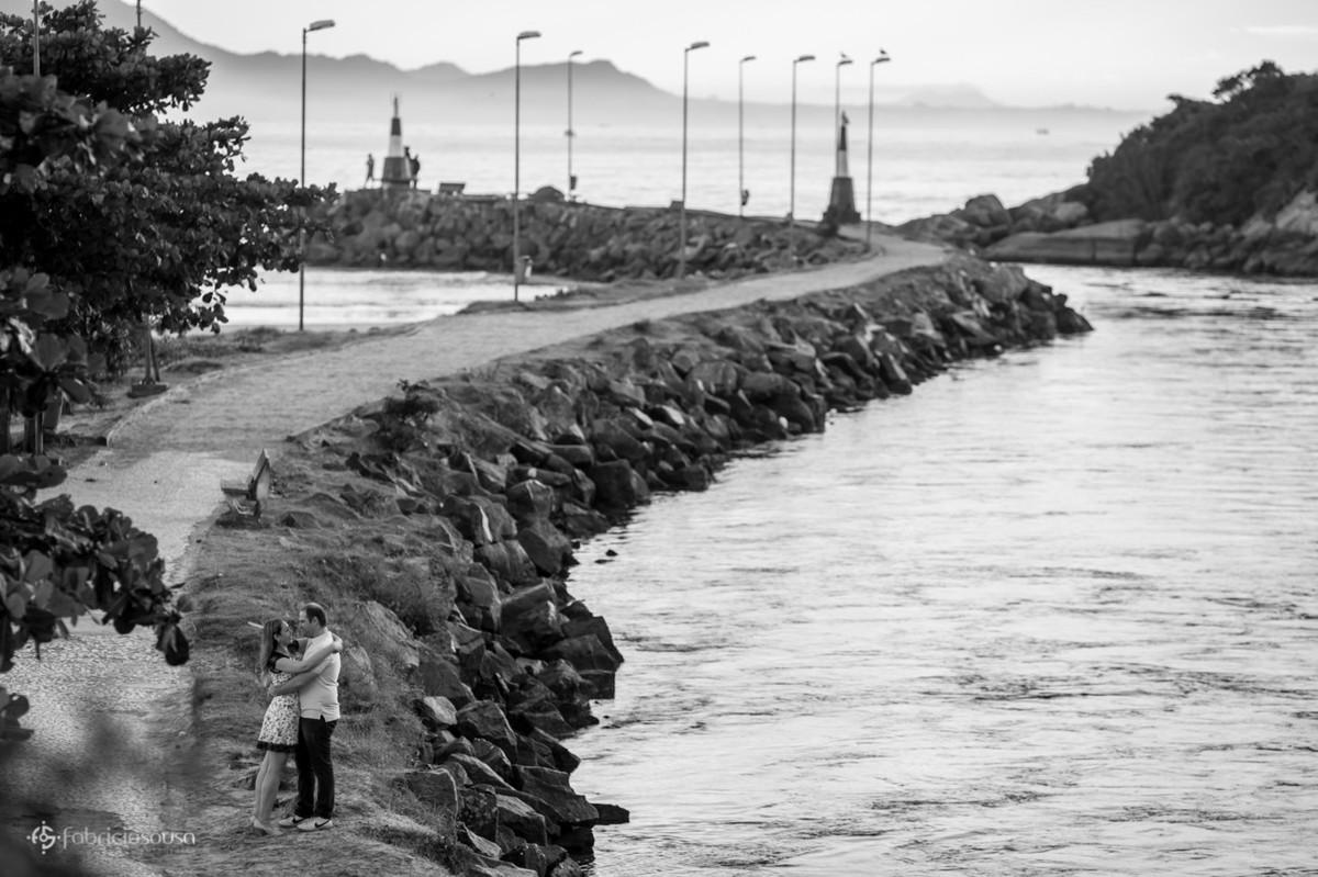 noivos no mole da Barra da Lagoa da Conceição