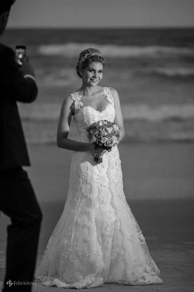 retrato pb da bela noiva Vanessa