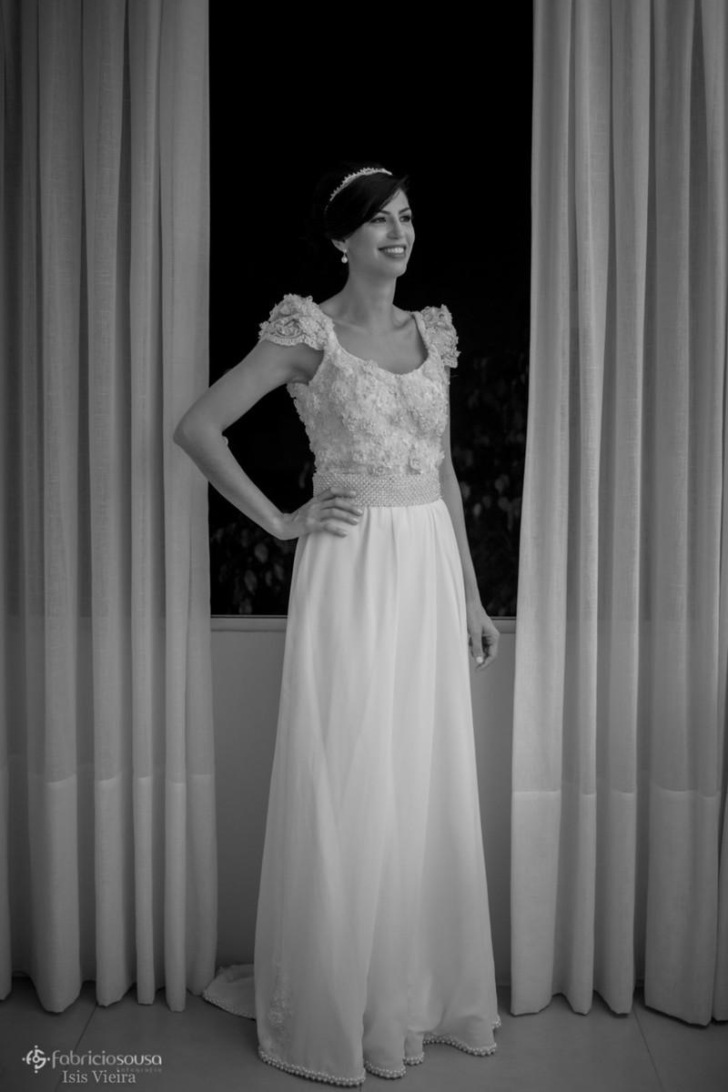 retrato da noiva no salão