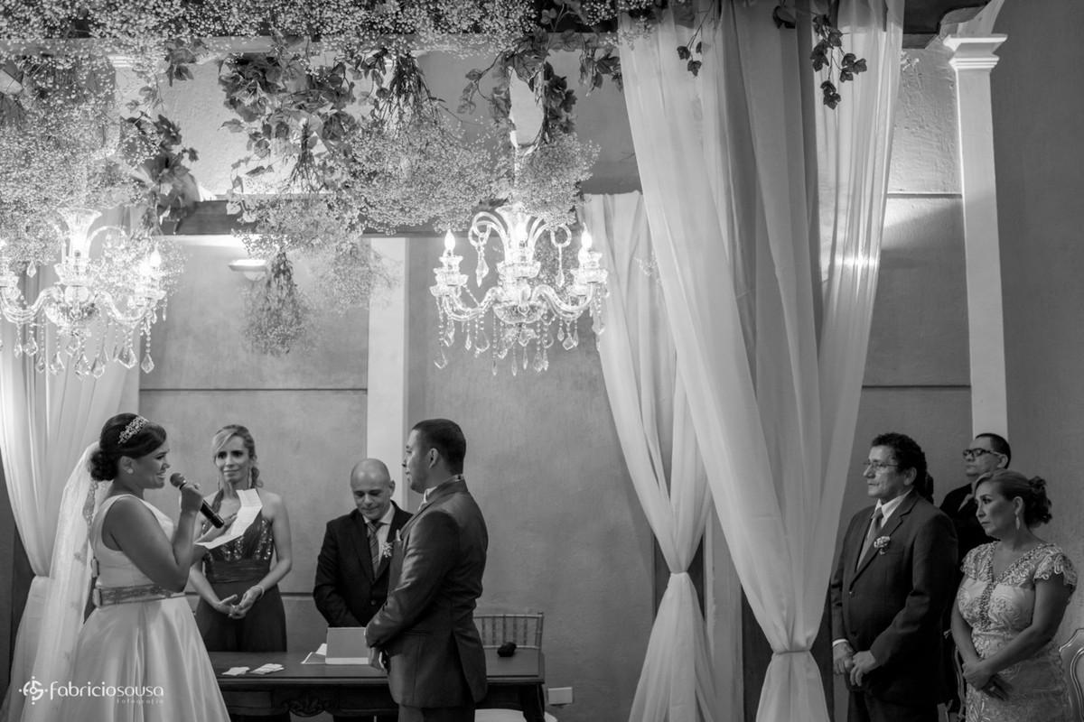 os votos da noiva