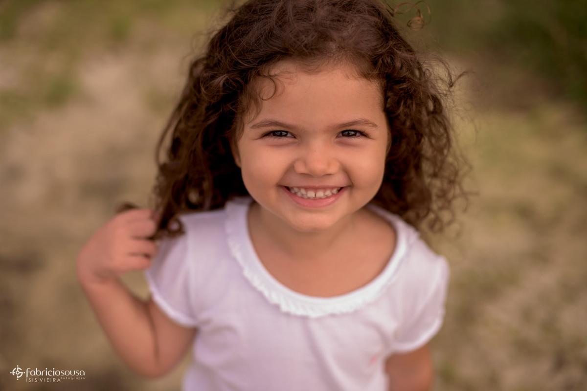 Close da menina sorridente