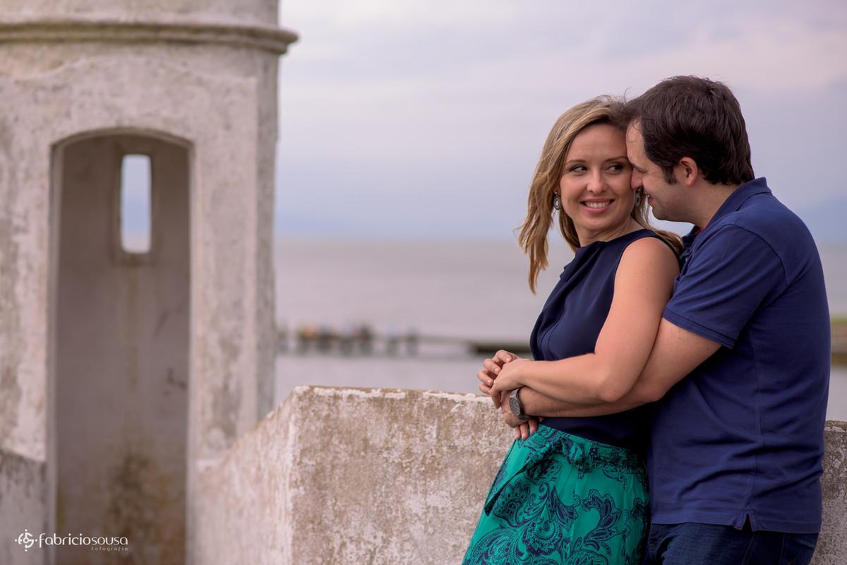 olhares apaixonados no forte de Florianópolis