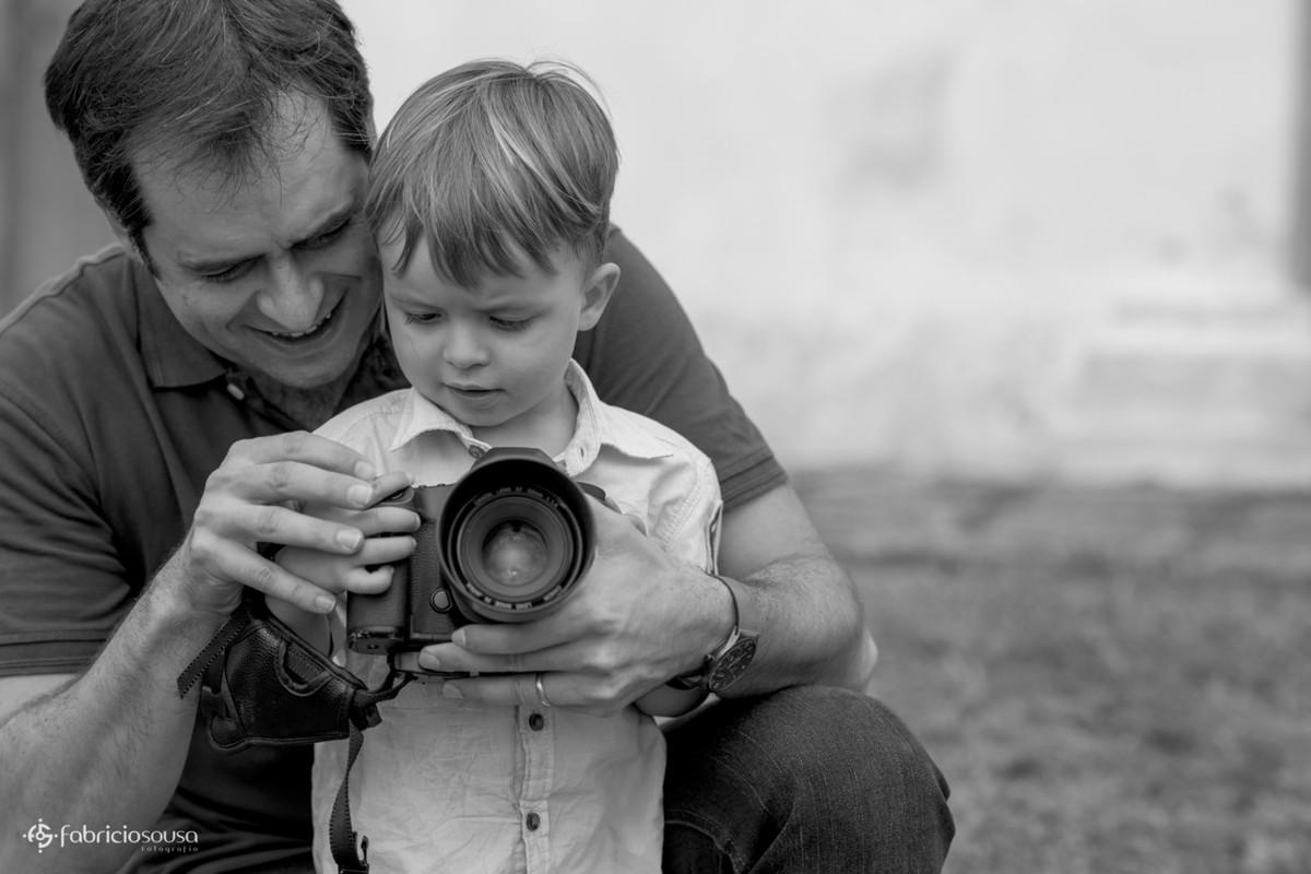 filho aprendiz de fotógrafo - primeiros clics