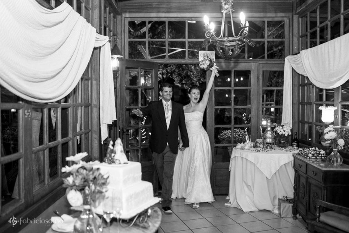 Entrada do casal na recepção