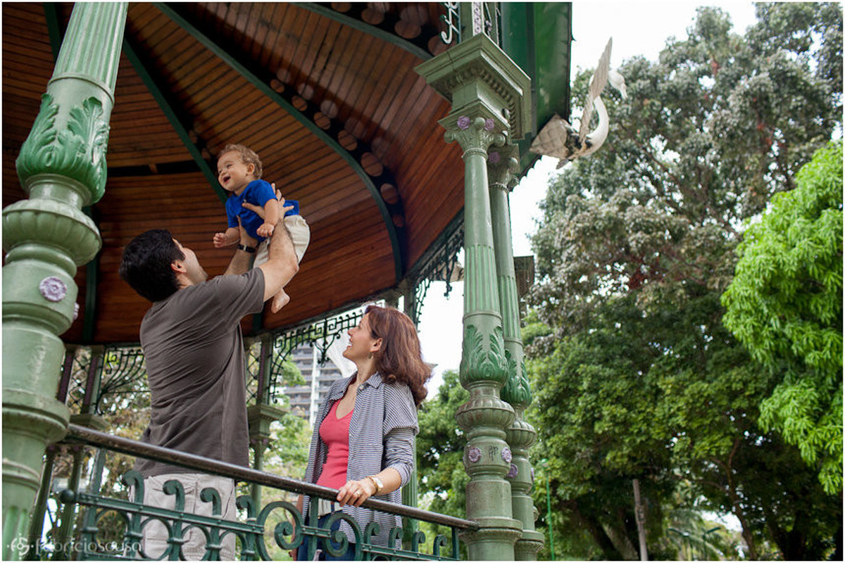 ensaio fotográfico infantil na praça Batista Campos no Pará