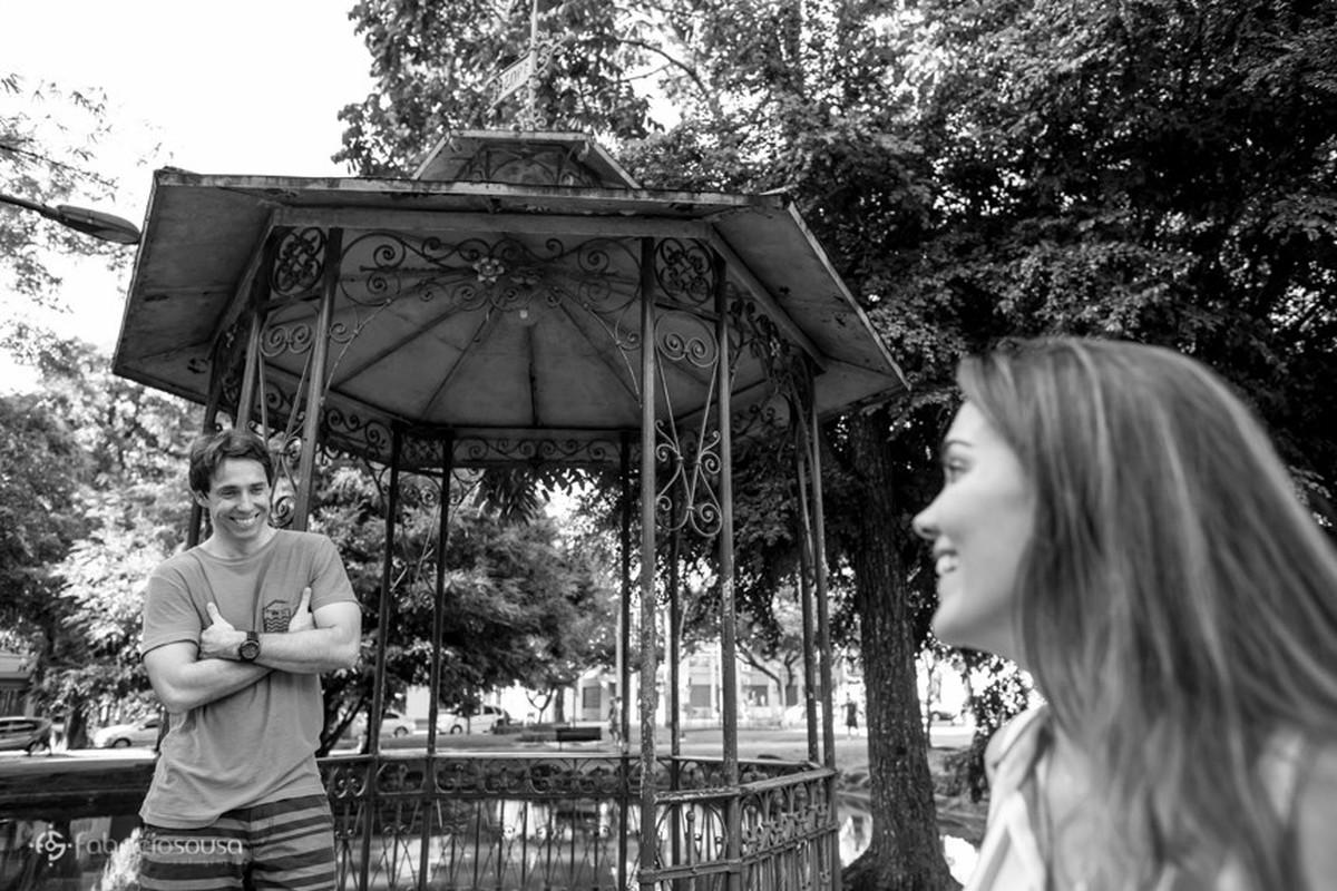 ensaio pre-casamento Kelly e Leonardo na praça Batista Campos