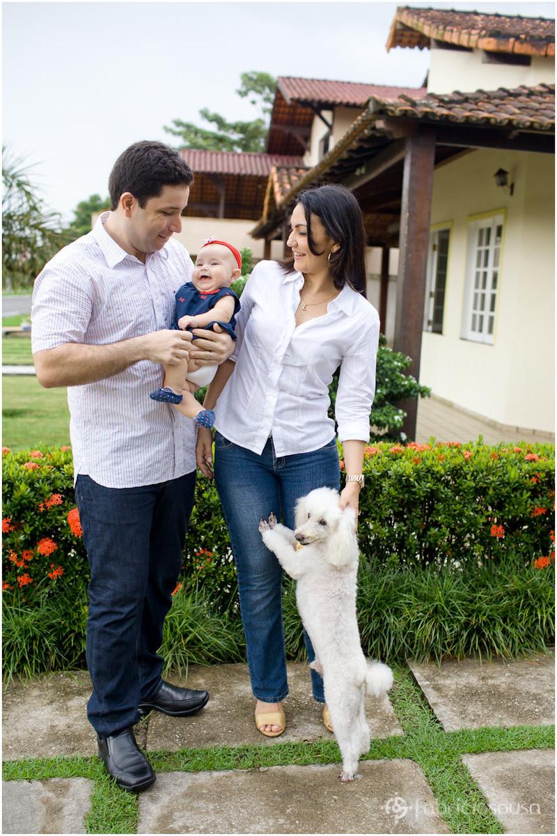 Retrato da família incluindo o cão
