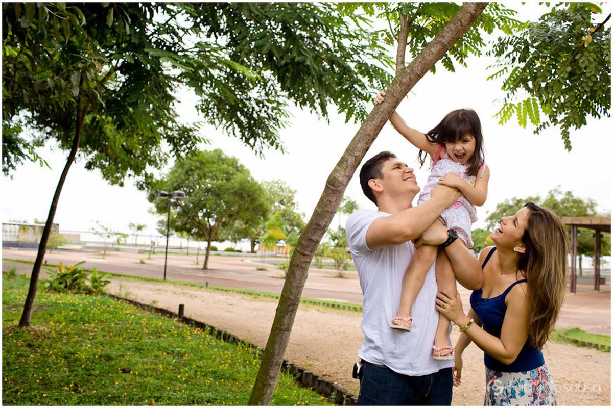 sessão fotográfica de família no parque