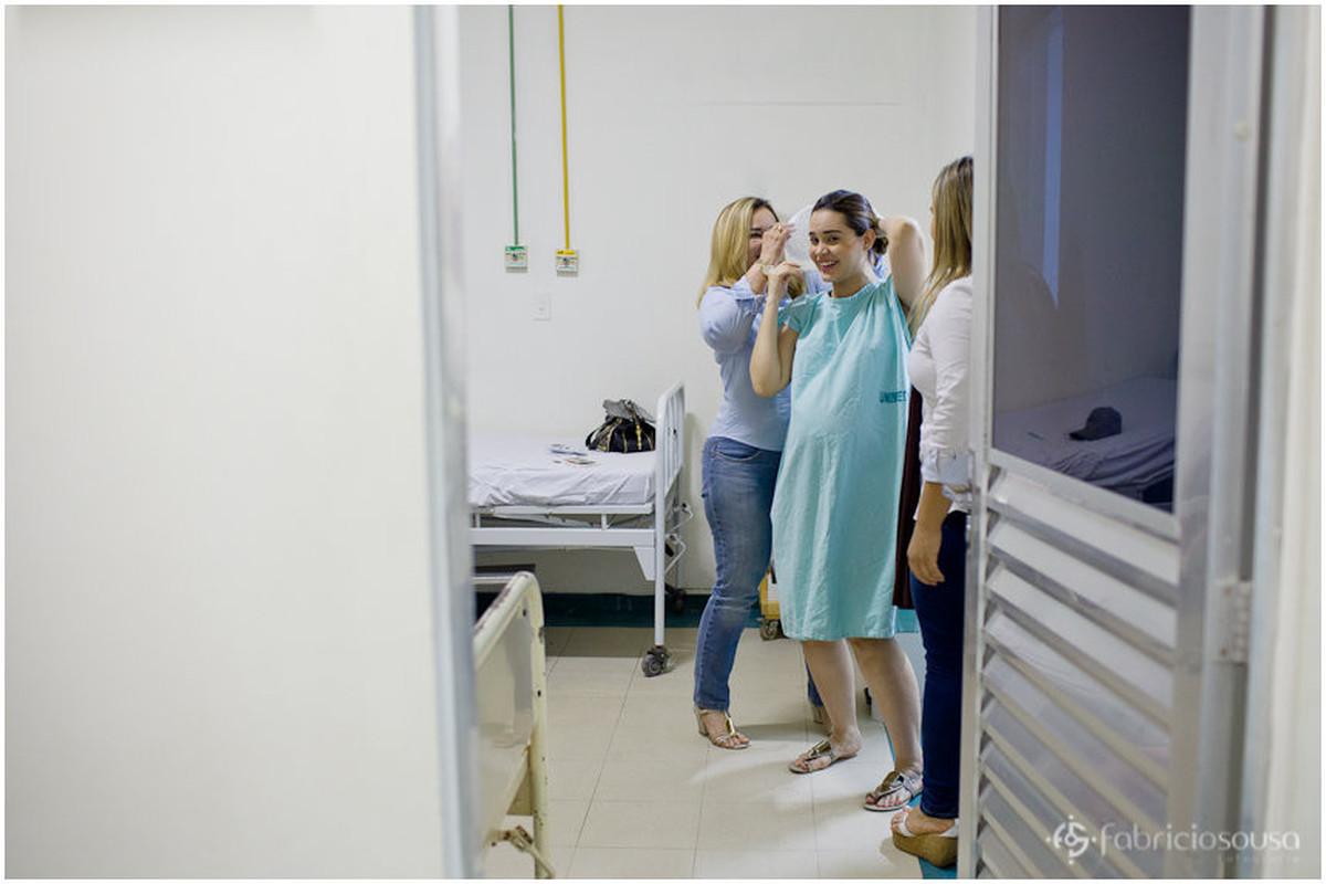 mamãe no pre-operatório