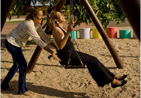 Família de sessão mãe e filha