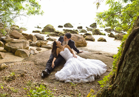Ensaio de ensaio pós-casamento Mariana e André
