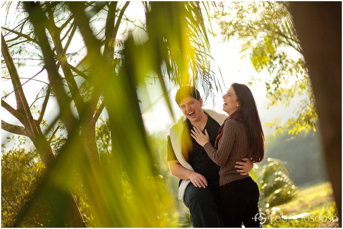 Filipy e Leidiane sorriem felizes na serra Catarinense
