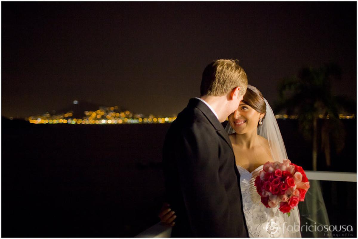 casamento Gabriela e Derick com vista de Florianopólis