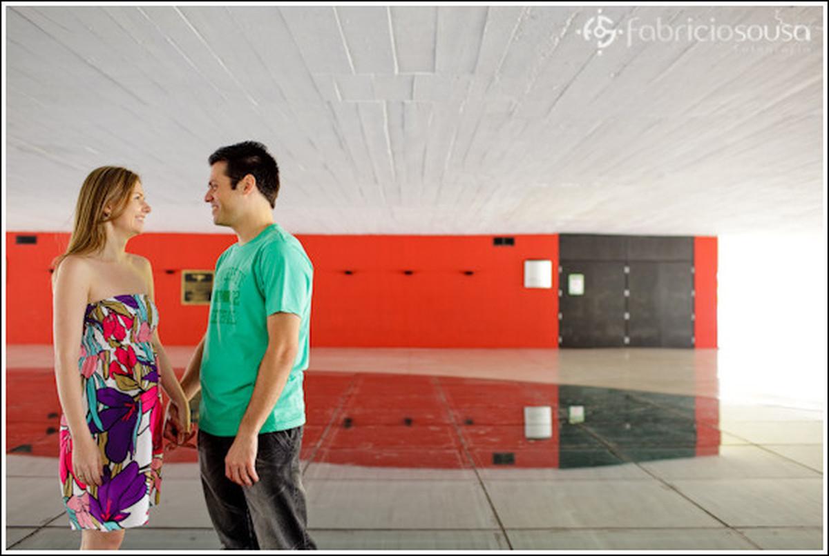 Ensaio Rose e Wagner em Curitiba no Museu Oscar Niemeyer