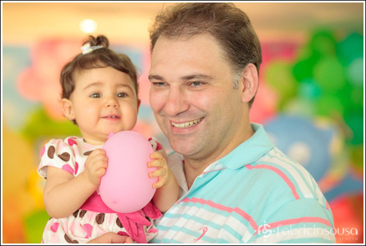 1 ano Luiza - fotografia infantil - pai e filha