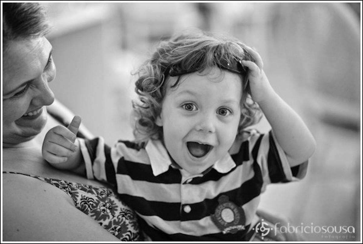 1 ano Luiza, amigos kids crianças preto e branco