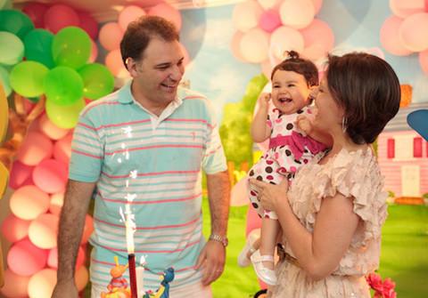 Família de 1 ano Luiza