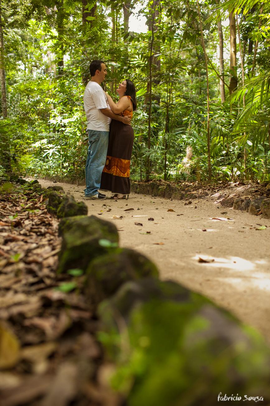 ensaio de casal na trilha do bosque rodrigues alves