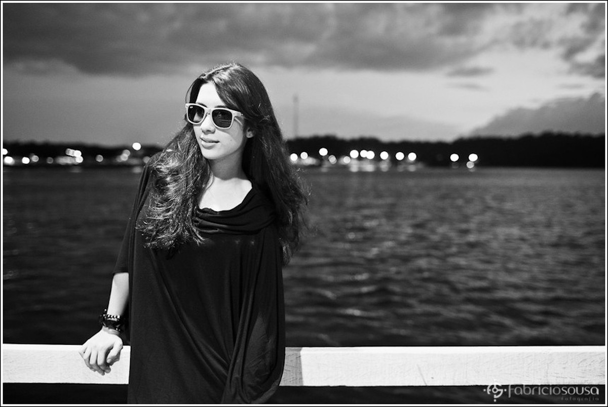retrato debutante em preto e branco