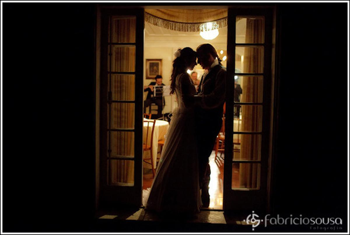 Momento de carinho dos recem casados