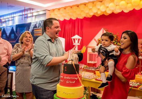 Família de 1 ano Cesar Augusto - festa infantil