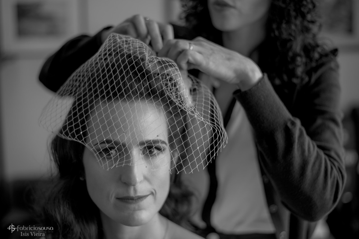 retrato da noiva com grinalda - estilo vintage anos 20