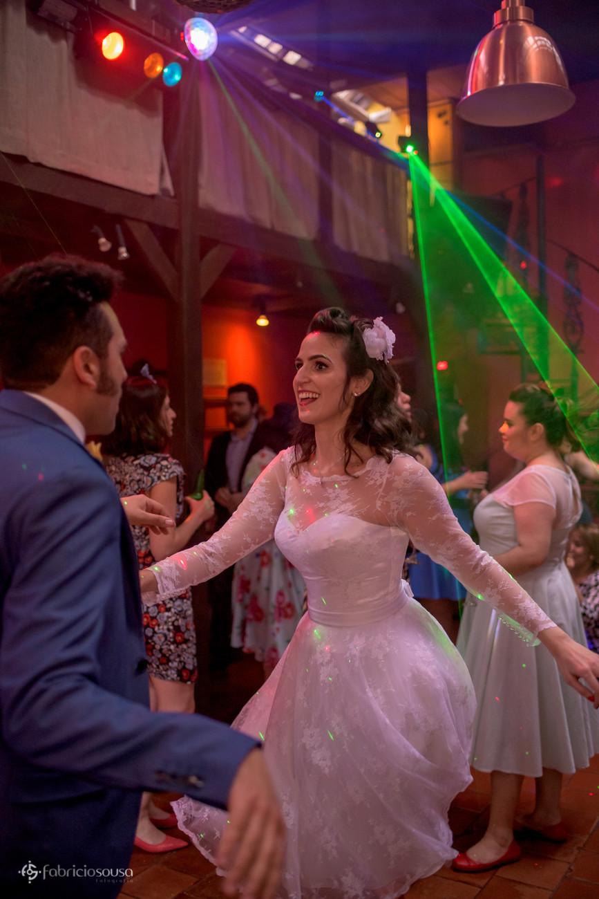 muito rock and roll na festa de casamento de Rodrigo e Daniela em São Paulo