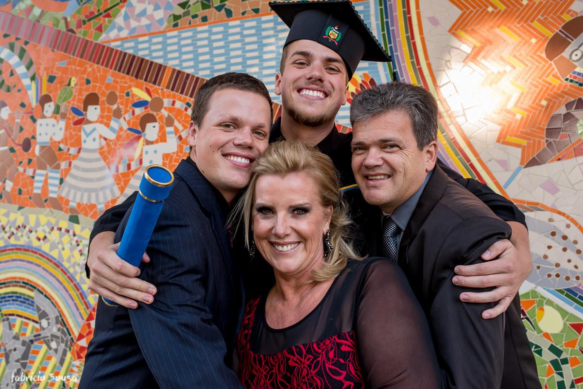 retrato da família Allgaier na UFSC