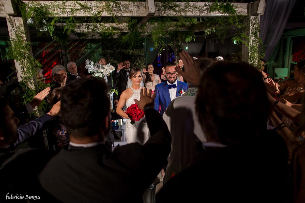 benção dos padrinhos na celebração do casamento