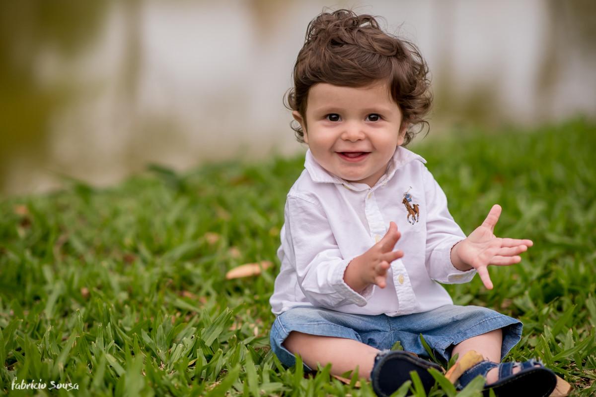 Caetano em sessão de fotos de 1 aninho - infantil