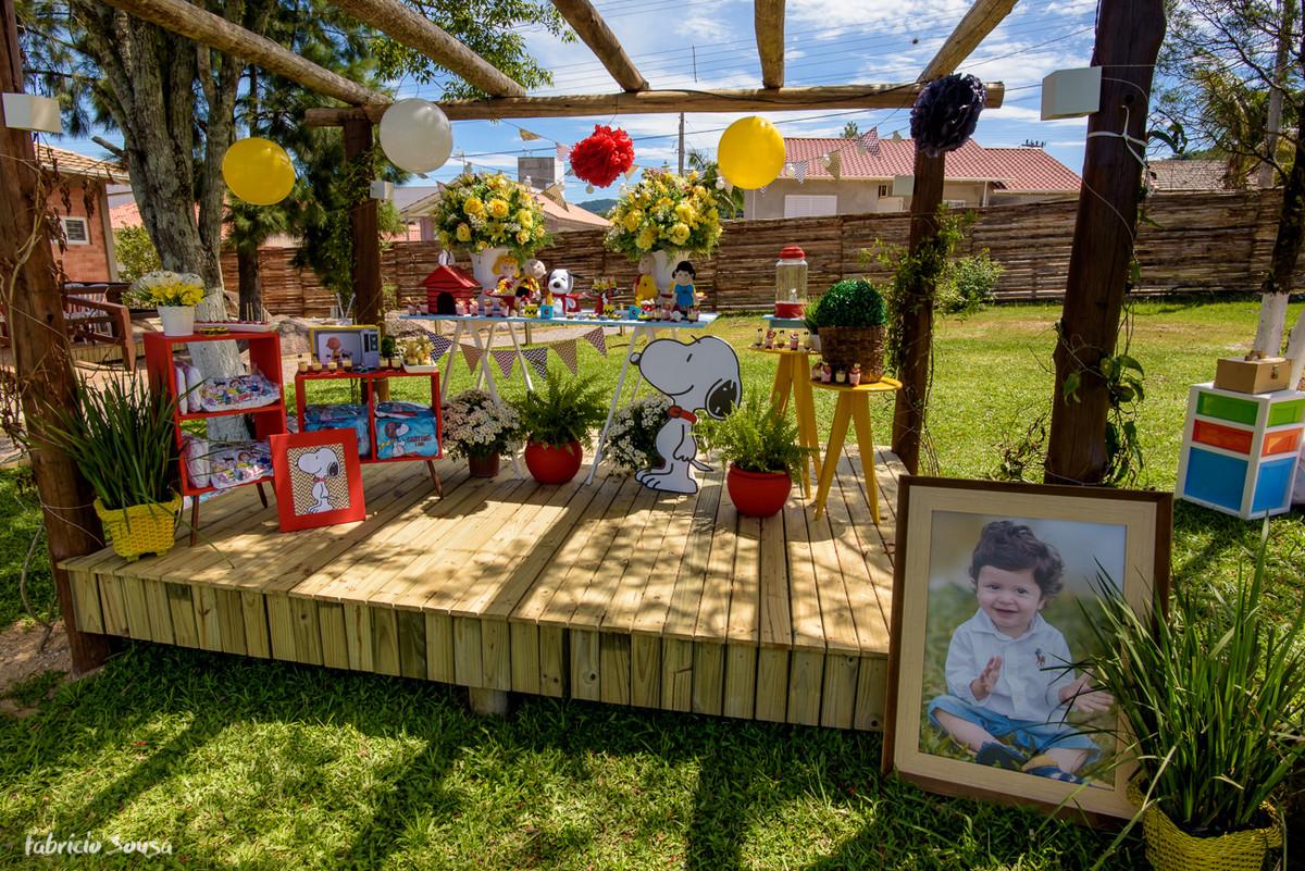decoração infantil Snoopy do Caetano na ACREF Unisul