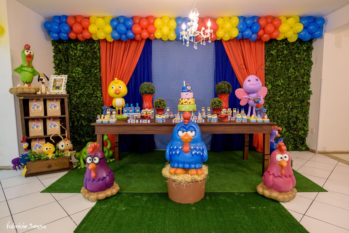 decoração galinha pintadinha no buffet balangolé em Floripa