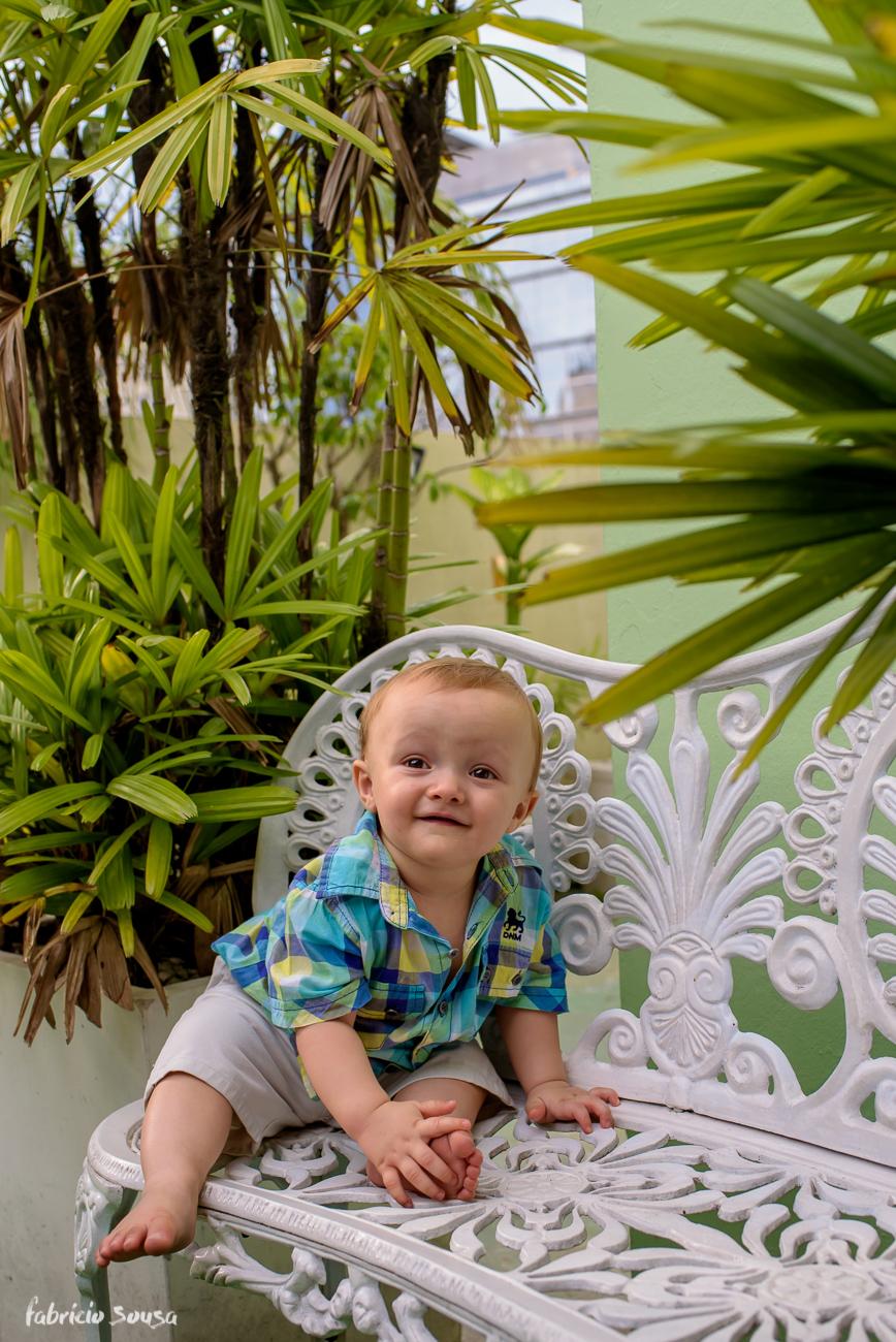 retrato do aniversariante no jardim do Balangolé no centro de Florianópolis