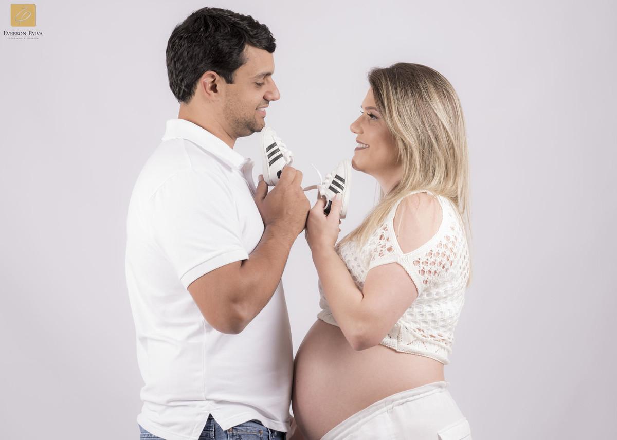 Foto de Roberta e Matheus à espera de José