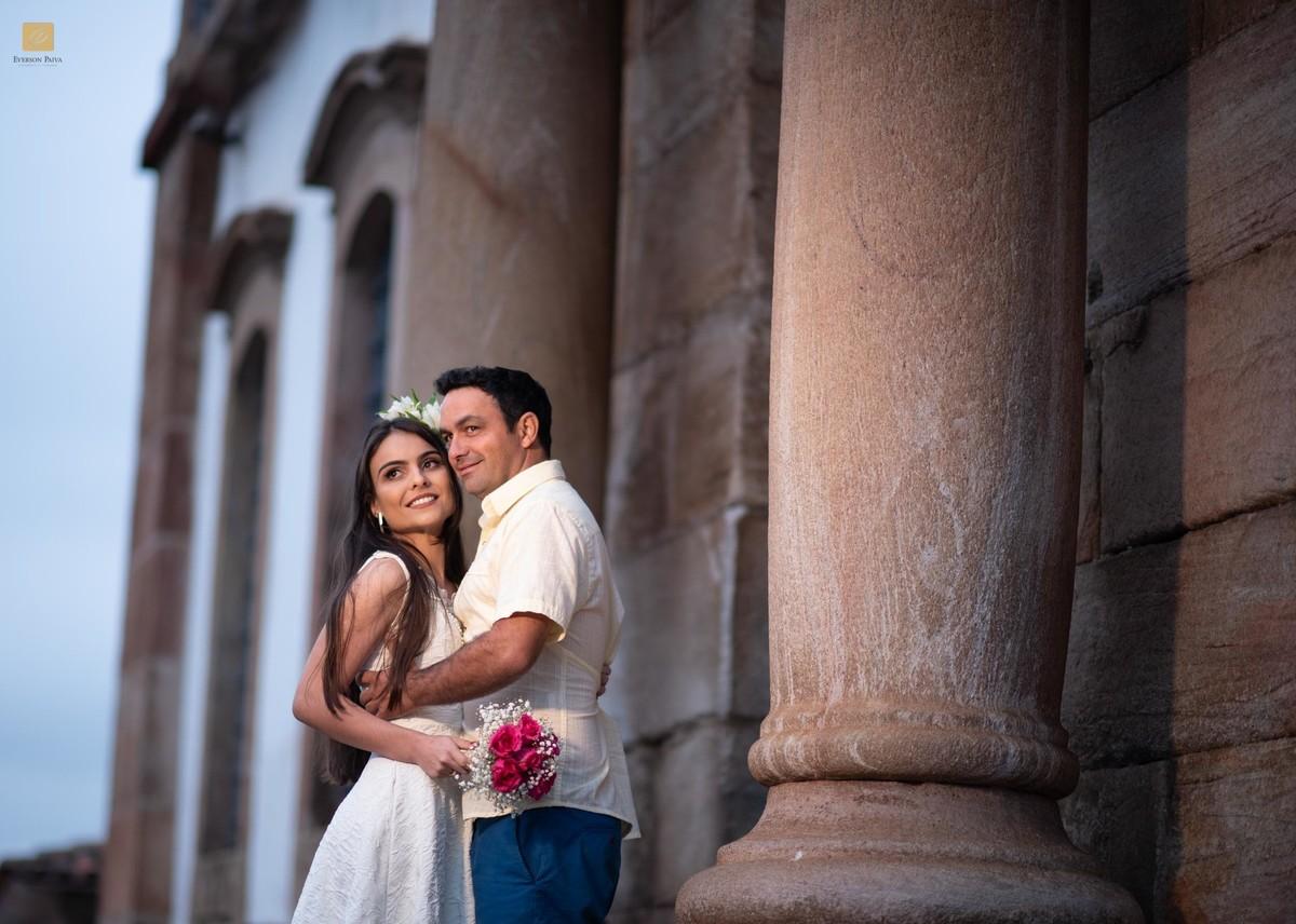Foto de Viviane e Michelangelo