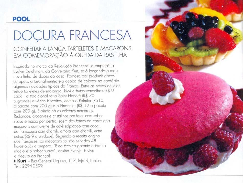 Imagem capa - Revista de Domingo - jul/2008 por Confeitaria Kurt