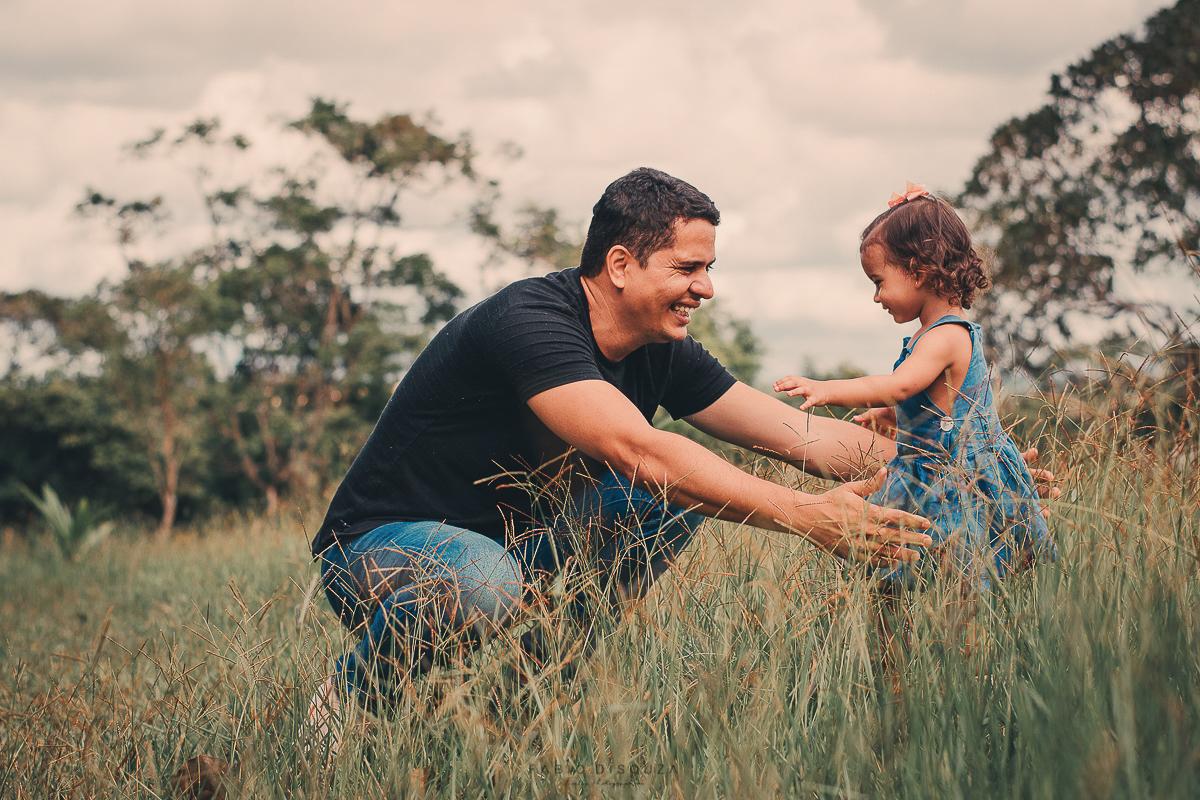 Ensaio de Família com pai e filha